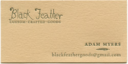 Black Feather Business Card