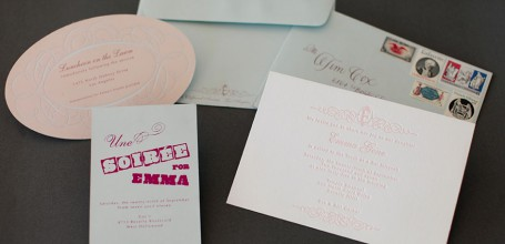 France inspired Bat Mitzvah invitation