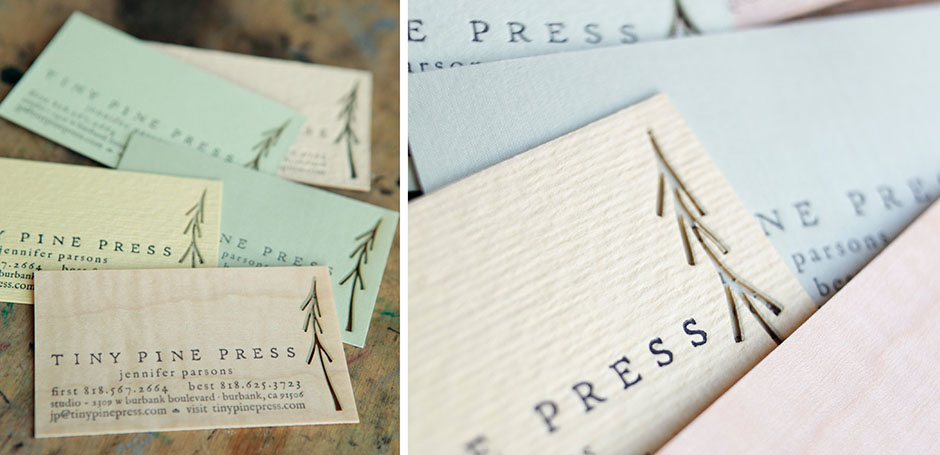 Tiny pine press tiny pine press laser cut logo business card tpp1 colourmoves