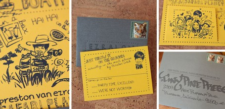 Yellow Bar Mitzvah invitation