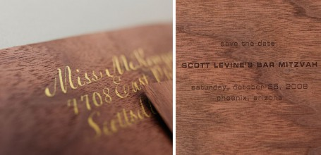 Wood Bar Mitzvah invitation