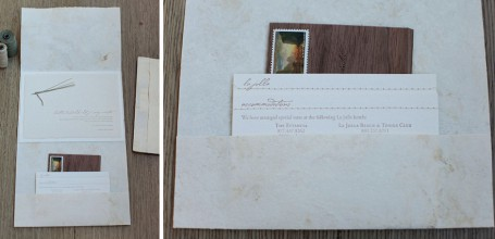 Handmade folder wedding invitation suite