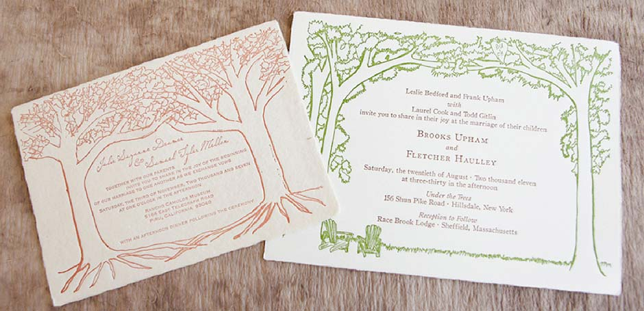 Outdoor Wedding Invitation Wording: Handmade Paper Outdoor Wedding Invitation