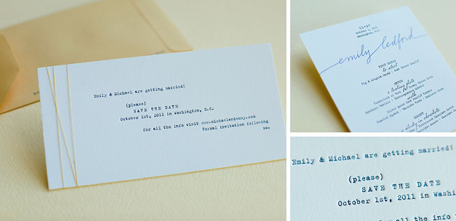 Typewriter font save the date