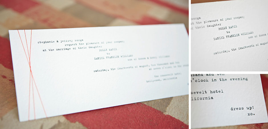 Vintage Typewriter Wedding Invitation H1