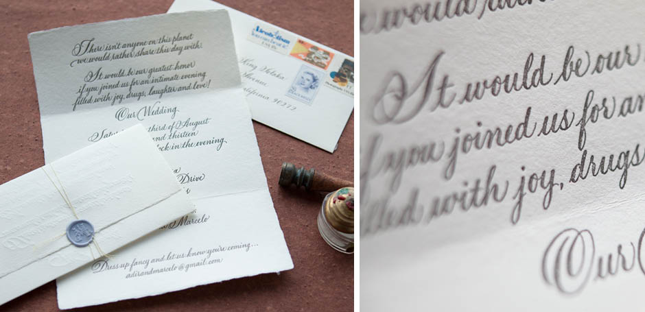 Letter Style Wedding Invitation With Wax Seal Tiny Pine Press