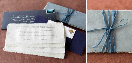 Tibetan prayer book wedding invitation
