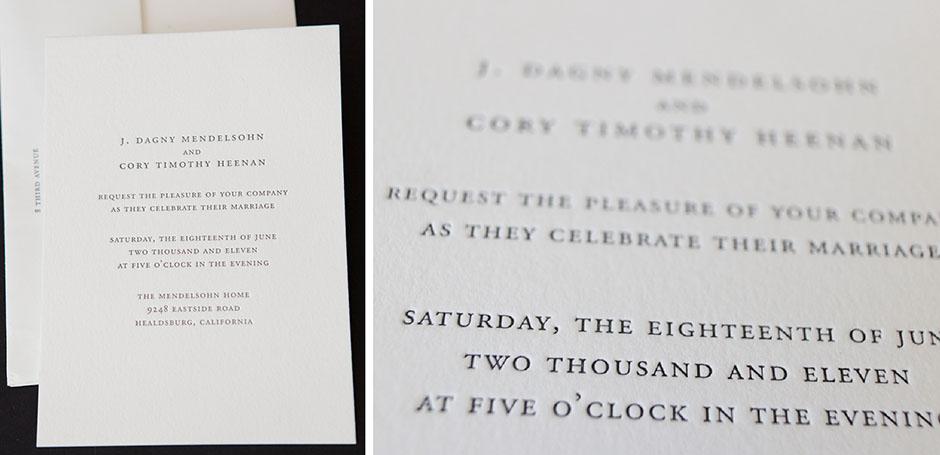 Clic Letterpress Wedding Invitation