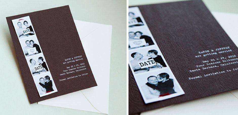 Top Photobooth Wedding Save the Date - Tiny Pine Press MB92